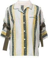 Sacai embroidered calligraphy blouse