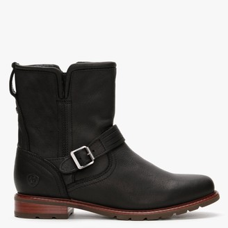 Ariat Savannah H20 Black Leather Ankle Boots