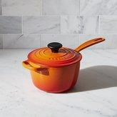 Crate & Barrel Le Creuset ® Signature 1.75-qt. Flame Saucepan with Lid
