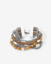 White House Black Market Suede & Jasper Multi-Row Bracelet