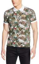 La Martina Men's Man S/S Printed Stretch P Polo Shirt