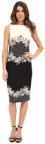 Donna Morgan Sleeveless Scuba Bodycon Printed Midi Dress
