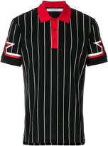 Givenchy colour-block striped polo top