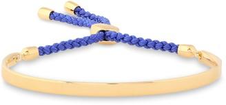 Monica Vinader Blue Fiji 18-karat Gold Vermeil And Braided Cord Bracelet