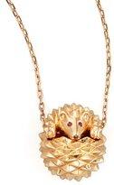 Boucheron 18k Pink Gold Herisson Hedgehog Pendant Necklace