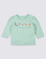 Marks and Spencer Love you Lots Daddy Embroidered Top