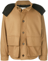 Marni contrast hooded military jacket