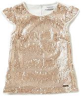 Marciano Big Girls 7-16 Cap-Sleeve Sequin Shirt