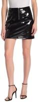 Blank NYC Blanknyc Denim Faux Leather Mini Skirt