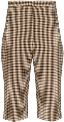 KHAITE Ruby checked shorts