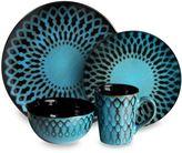Sicily American Atelier 16-Piece Blue Dinnerware Set