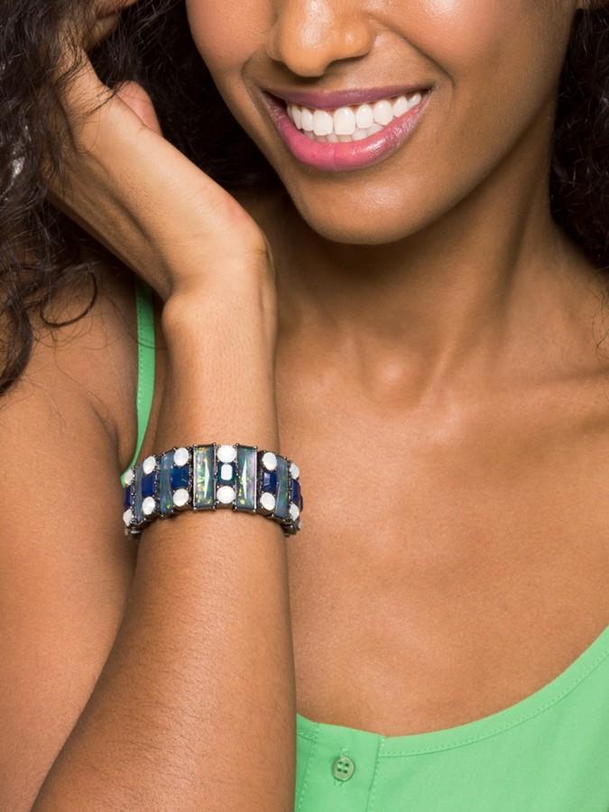 BaubleBar Marine Opal Stretch Bracelet