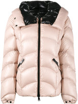 Moncler Down-Filled Hooded Jacket with Fitted Wide Collar