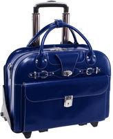 McKlein McKleinUSA Roseville 15.4 Leather Fly-Through Checkpoint-Friendly Detachable -Wheeled Laptop Briefcase