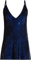 Ashish Sequin-embellished plunging silk mini dress