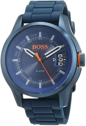 HUGO BOSS Orange Mens Analogue Classic Quartz Watch with Silicone Strap 1550049