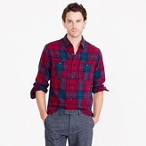 J.Crew Midweight flannel shirt in cabernet plaid