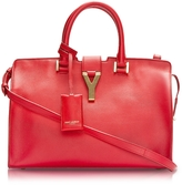 Saint Laurent Cabas Y Red Leather Tote