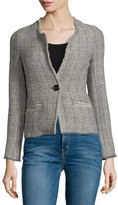 Isabel Marant Leary Structured Tweed Blazer, Gray