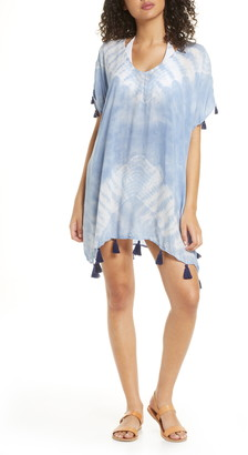 Surf.Gypsy Tassel Tie Dye Cover-Up Caftan