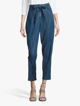 Betty Barclay Betty & Co High Rise Belted Jeans, Blue Denim