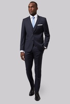 DKNY Slim Fit Navy Textured Suit
