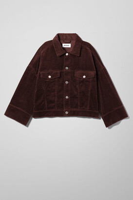 Weekday Tempera Cord Jacket - Brown