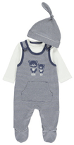 George Bear Dungarees, Bodysuit and Hat Set