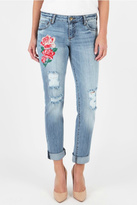 KUT from the Kloth Embroidered Boyfriend Jeans