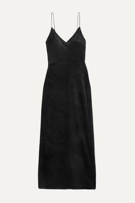 Nili Lotan Josephine Devoré-velvet Gown - Black