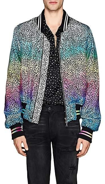Amiri Men's Leopard-Print Bomber Jacket