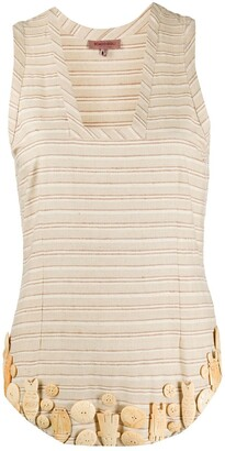 Romeo Gigli Pre-Owned Embellished Striped Blouse