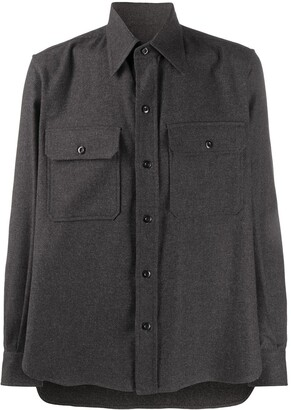 Ami Pocket-Detail Button-Up Shirt
