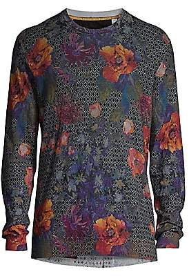 Robert Graham Men's Hawkeye Floral Linen & Cotton Sweater