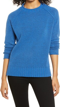 Caslon Cozy Rolled Crewneck Sweater
