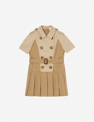 Burberry Jeanna belted stretch-cotton mini dress 3-14 years