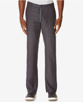 Perry Ellis Men's Linen Drawstring Pants