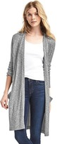 Gap Softspun knit open-front long cardigan