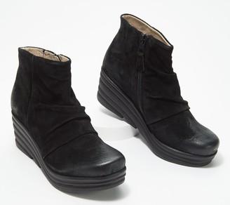 Miz Mooz Suede Wedge Boots - Zane