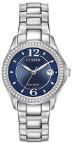 Citizen Eco-Drive Silhouette Crystal Accent Stainless Steel Bracelet Watch