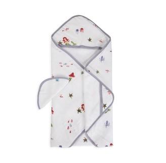 Little Unicorn Hooded Towel and Washcloth 100% Cotton Mermaid