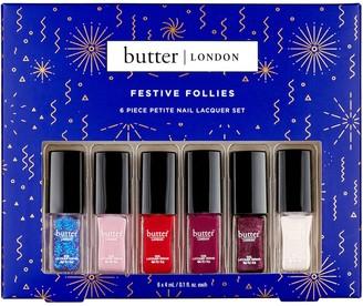 Butter London Festive Follies 6-Piece Petite Nail Lacquer Set