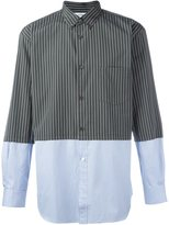 Comme des Garcons striped panelled shirt