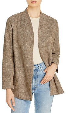 Eileen Fisher Tweed Open Front Jacket