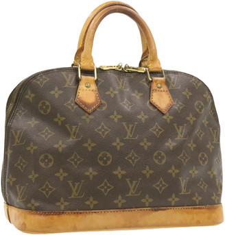 Louis Vuitton Alma Brown Cloth Handbags