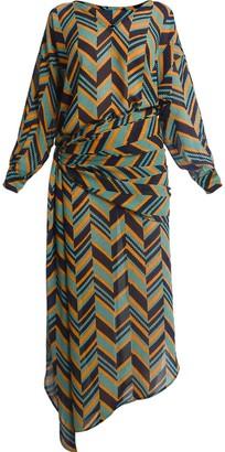 story. Asymmetric Shirt Dress Chevron