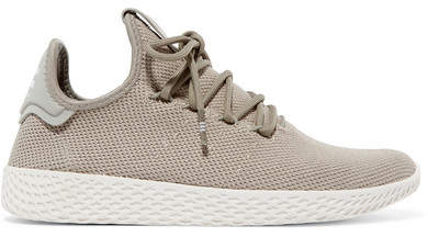 adidas + Pharrell Williams Tennis Hu Stretch-knit Sneakers - Gray