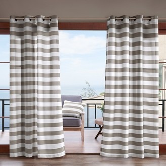 Madison Home USA Cabana Stripe 3M Scotchgard Outdoor Window Curtain