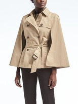 Banana Republic Water-Resistant Trench Cape