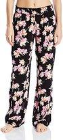 Kensie Women's Long Sleep/Lounge Pant Crinkle Woven